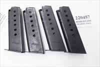 4 Sig Sauer model P220 German Dovetail Construction Factory 7 Shot Magazines .45 ACP VG – Exc $35 per on 4