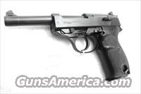 Walther 9mm P38 Lightweight Military 1963 P-38 German Federal Border Guard BGS CA C&R OK with 1 Factory 8 Shot Magazine