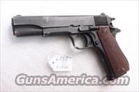 Star 9mm model BS Israeli Issue 1974 Good-VG Reparkerized Colt Government Size Mishteret Y'Israel