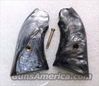 Grips Ruger Bearcat Jay Scott Imitation Black Pearl 1970s Cracked but Repaired VG