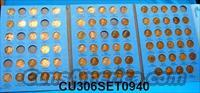 Coins US Lincoln Set 1909-40 Less 10 Coins
