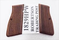 Browning Hi-Power FEG High Power Walnut Checkered Grips Surya India fit Arcus Kareen Daly 9mm .40 1829HPW