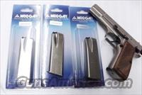 3 Browning 9mm Hi-Power Magazines Mec-Gar 15 shot Nickel 3x$29 MGBRHP15N High Power HiPower High Capacity $29 per on 3 or more