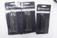 3 Beretta 9mm 92C Compact Factory 13 shot Magazines 3x$26 per J80400 NIB Italy Compact Only No Full Size