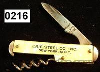Knife: Camco Advertising Bottle Knife VG 1940s