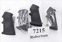 4 Colt AR15 Grips with Screws New Hard Rubber Middle Finger Rest checkered laterals serrated backstrap $11.80 per on 4 or more New Unfired GR7215