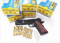 Ammo: .45 ACP +P Buffalo Bore 1150 fps 185 JHP $19.80 per box in 5 Box Lots of 100 rounds Cor Bon Competitor 45185