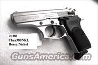 Bersa .380 ACP Thunder 380 Nickel Lightweight 7 Shot PPKS type NIB Internal Lock 1 Magazine 380 Automatic THUN380NKLT