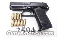 Heckler & Koch .45 ACP USP45C Variant 3 Compact 9 Shot 1 Magazine Night Sights 2007 Roanoke VA Police 215920 Firearm Handgun Pistol 45 Automatic H&K HK
