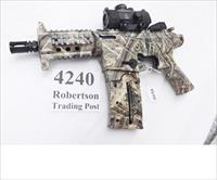 Mossberg .22 LR model 715P Duck Commander AR15 type Pistol Realtree Camo Picatinny Rails Red / Green Dot Sight 6 inch Cage Suppressor 37237