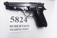 Beretta 9mm model 92S Italy Military Police Italian Carabinieri VG+ JS92F300M type / ancestor c1978 w1 15 round Magazine Factory Gloss Anodized Frame, Blue Barrel & Slide +GB