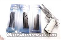 3 Colt Government 9mm Mec-Gar 9 Shot Blue Steel Magazines 3x$23 per XMCGOV9LB 1911 type Full Size Grip Frame