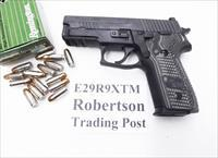 Sig 9mm P229R Extreme Duty Black Nitron & Stainless 16 Shot Siglite Sights P228 type Compact NIB Sig Sauer 2 Factory Magazines 3 Dot Rail E29R9B