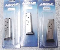 3 Walther PPK .380 Mec-Gar 6 Shot Magazines Nickel Plated Steel Finger Rest 3x$33 No PPKS No PP No .32  WPPKFRN 380 Automatic