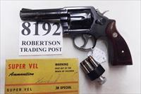 Smith & Wesson .38 Special Model 10-6 Heavy Barrel D789000 range 4 inch 1975 Montreal Police Department Blue with Magna Grips Good partial Refinish Condition