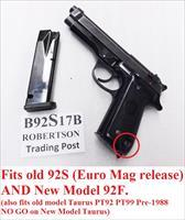Beretta Old Model 92S Magazines ACT-Mag 9mm 17 round Bright Blue Italian Made Act Mag B92S17B Buy 3 Ships Free!