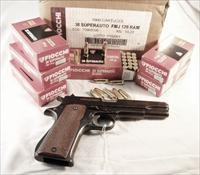 Ammo: .38 Super Fiocchi 129 grain Full Metal Case Jacket 38 Super ACP 250rd Lot of 5 Boxes.