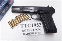 Cugir 7.62x25 TTC Russian TT33 type Romanian Army Exc Reblue Safety 9 Shot 2 Mags Holster Romanian Army 1952 Production C&R CA OK