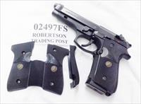 Beretta 92FS Pachmayr Signature 2 Piece Grips B92SB 92F 92FS 96F 96FS variants except old 92S 02497FS 2500 type but NO FINGER GROOVES  2 Piece Gloss Black