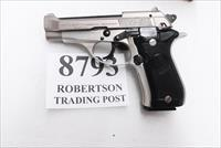 Beretta .380 ACP model 84 Cheetah 84BB 14 Shot 1 Pre Ban Mag Very Good J84F212M type Satin Nickel Three Tone 1988 Production