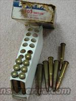 Ammo: 1960s Federal .303 British box & 13 rds VG Cond