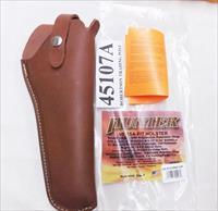 Hunter Co. Versa Fit US Leather Holster 5 or 6 inch .22 Semi Auto Pistols 1970s style 45107A New Adjustable Strap