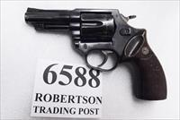 Astra Spain .38 Special Police model Large Frame Revolver 6 Shot 3 inch Blue Steel Walnut Grips Good to Very Good 1986 Spanish Production, Venezuela Homeland Security Issue +P OK