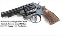 Smith & Wesson .41 Magnum model 58 Blue 4 inch S2602XX, 1966 Third Year of Production