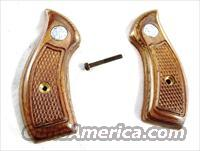 Grips S&W J Frame Round Butt Service Grips New Factory Smith & Wesson Brown Laminate with Logos Models 30 31 33 34 36 37 38 40 42 49 60 634 637 638 640 317 351 650 651