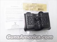 Safariland model 079 Open Top Double Mag Case 9mm .40 S&W Glock Sig HK S&W Concealment Friction & Snap Type 79-83-8