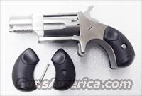 North American Arms .22 Short Long Rifle Mini Revolver Grips Black Rubber with Screw No Magnum Round Butt Only
