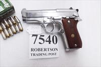 Taurus .380 model PT58 SS Stainless 1580049 Very Good 1 Magazine Wood Grips 1993 Production Extra Magazine Offer
