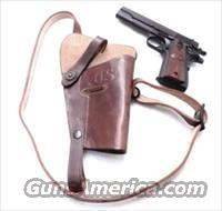 GI style Shoulder Holster 45 Autos 1911 Pistols New India Brown Leather WWI WWII type GL0108 Colt Government Model 45 Automatic Short Chest Strap variant
