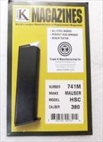 Mauser HSc .380 ACP Triple K 7 Shot Magazine 380 Automatic 741M New Blue Steel Buy Three Ships Free!
