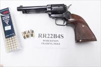 Heritage .22 LR Colt Scout Copy Rough Rider 4 3/4 inch Blue Single Action 6 Shot Lever Safety Walnut Target Grips CA OK