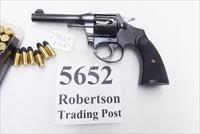 "Colt .38 S&W Police Positive 4"" Blue 1938 Crockett County TN Domicile Excellent Black Composite Grips C&R CA OK"