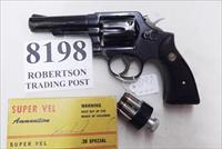 Smith & Wesson .38 Special Model 10-6 Heavy Barrel D683000 range 4 inch 1974 Montreal Police Department Blue with Magna Grips Good-VG Refinish Condition