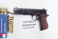 Star 9mm model B Super Spanish Army 1972 Very Good 5 inch Blue Colt Government Size 9 Shot 1 Magazine Super B