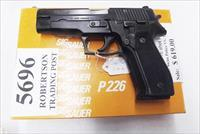 Sig 9mm P-226 All German 16 Shot 1987 Swiss Police Original Factory Orange Box, Test Target & Manual 3 Dot Sight with 1 Factory Magazine E26R9B