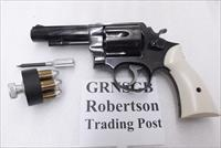 S&W N Frame Square Butt Imitation Gray Bone Ivory Revolver Grips for Smith & Wesson models 27 28 29 GRNSGB Smith & Wesson Smooth Magna Small Type with Screw & Escutcheon