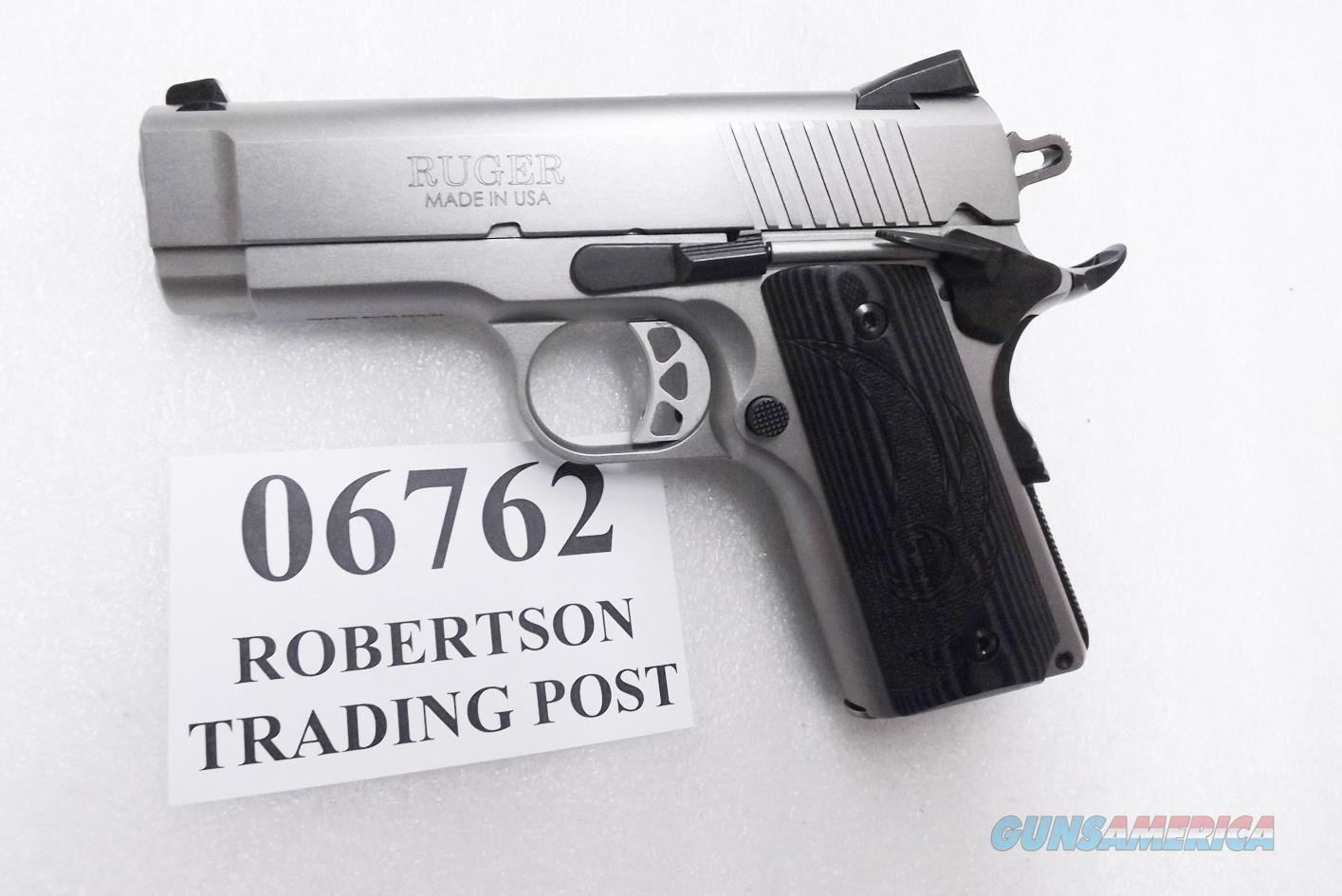 Ruger  45 ACP SR1911 Officer Style Stainless 06762 Steel Frame Excellent in  Box with Papers Officer's ACP / Detonics descendant