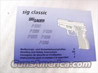 Sig Sauer Factory Manual P220 P225 P226 P229 P239 Swiss Police SASigbk01 Unissued 4 Languages ca. 1998 Blue Tint Color