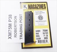 Walther P38 9mm Triple K 8 Shot Magazine 75M New Blue Steel Ported model P-38 Pistols Buy 3, Ships Free!