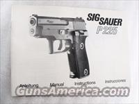 Sig Sauer Factory Manual P225 Swiss Police SASigbk04 Unissued 4 Lingual c 1985 Black & White