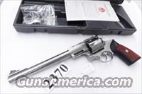 Ruger .44 Magnum Super Redhawk 9 1/2 inch Stainless with Ruger Steel Scope Rings manufactured 1994 Eighth Year of Production Excellent in Box with Manual