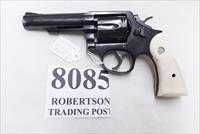 Smith & Wesson .38 Special Model 10-10 Blue 4 inch Heavy Barrel 1993 Very Good Cond Square Butt with Imitation Ivory Magna Grips