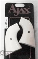 Colt Single Action Army Revolver Grips Ajax Imitation Ivory SAA GR01IP Any Post 1976 Third Generation SAA or New Frontier Centerfire New Old Stock