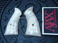 Smith & Wesson N Frame Square Butt Revolver Grips Ajax Imitation Pearl GR19WP  M24 25 27 28 29 New Old Stock