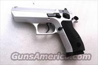 CZ75 Clone Tri Star T100 9mm 16 shot with 2 Mec-Gar 15 Shot Magazines Hard Chrome Satin Nickel type with Commander Hammer 3 7/8 inch 3 Dot NIB EAA Witness Competitor CZ Mag Compatible