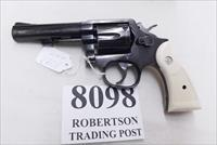 Smith & Wesson .38 Special Model 10-10 Blue 4 inch Heavy Barrel 1991 Good to VG Cond Round Butt with Imitation Ivory Magna Grips